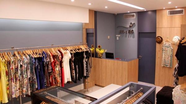Loja de roupas pequena