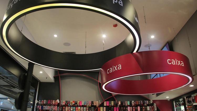 Lâmpada de LED na arquitetura comercial