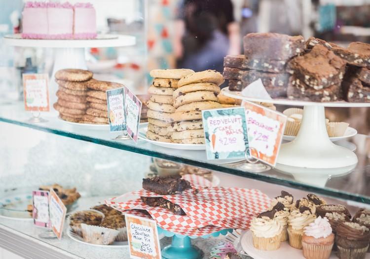 Arquitetura comercial de uma padaria: Exibição dos produtos